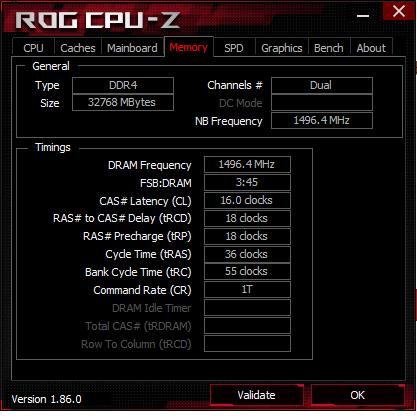 Detalii oferite de CPU-Z despre memorii