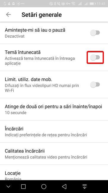 Activează Tema întunecată pentru YouTube pe Android