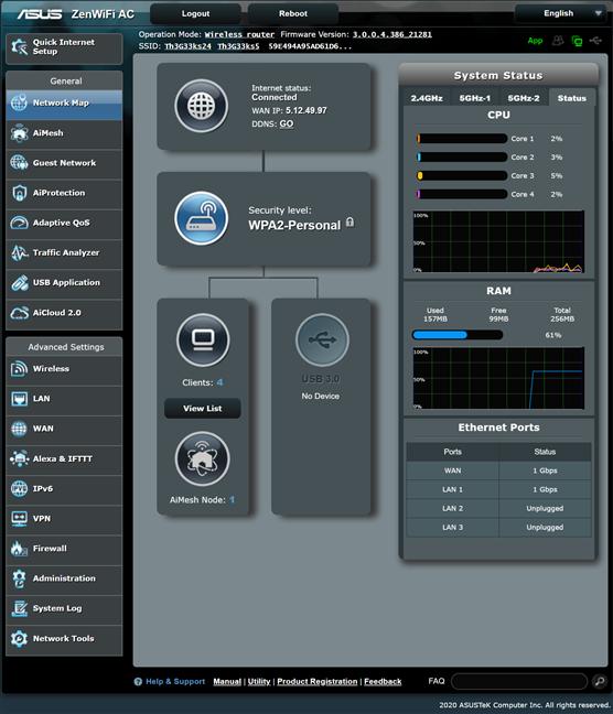 Firmware-ul de pe ASUS ZenWiFi AC (CT8)
