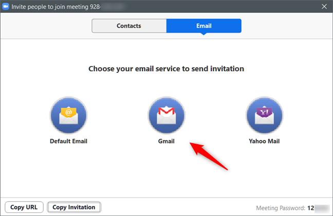 Invitarea altora la ședința Zoom prin e-mail