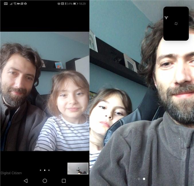 O ședință Zoom pe un smartphone cu Android și pe un iPhone