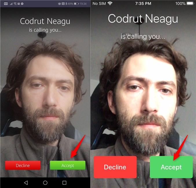 Acceptarea intrării într-o conferință din aplicația Zoom pentru Android și iOS