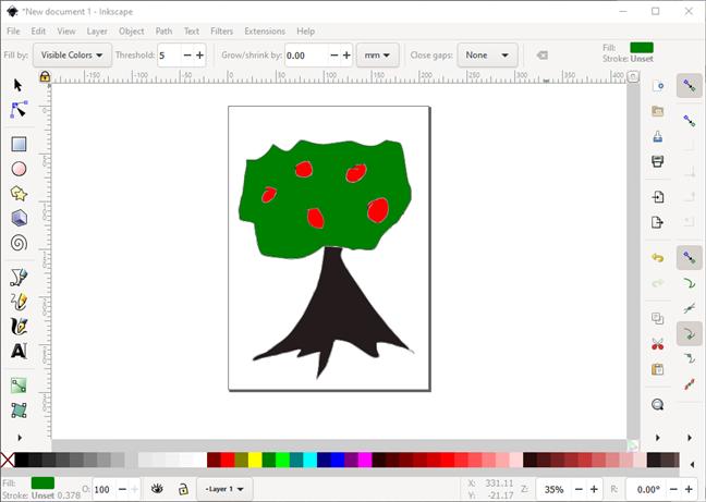 Un program similar cu Paint: Inkscape