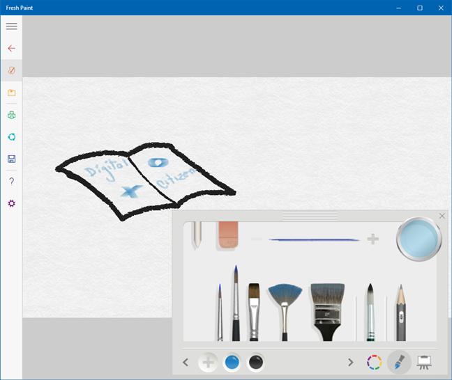 Aplicații ca Paint: Fresh Paint (de la Microsoft)