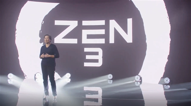 CEO-ul AMD, Lisa SU, începând prezentarea Zen 3