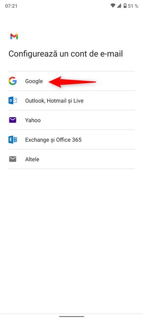 Când adaugi un alt cont Gmail, adaugi de fapt unul Google