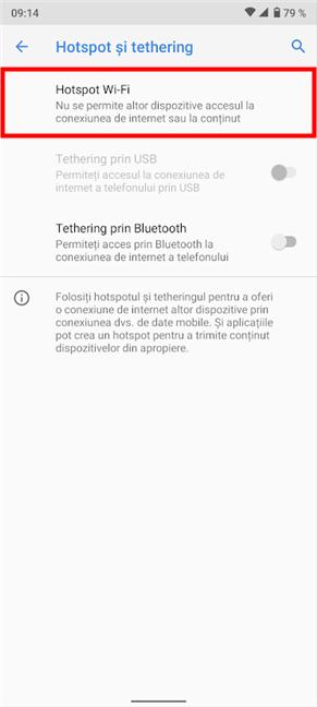 Accesează Hotspot Wi-Fi