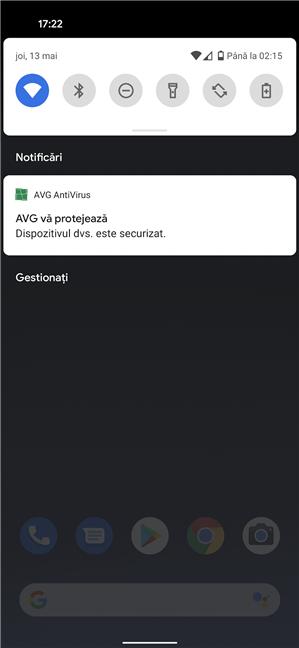 AVG afișează o notificare persistentă pe Android