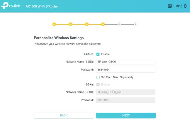 TP-Link Archer AX20 - personalizează setările wireless