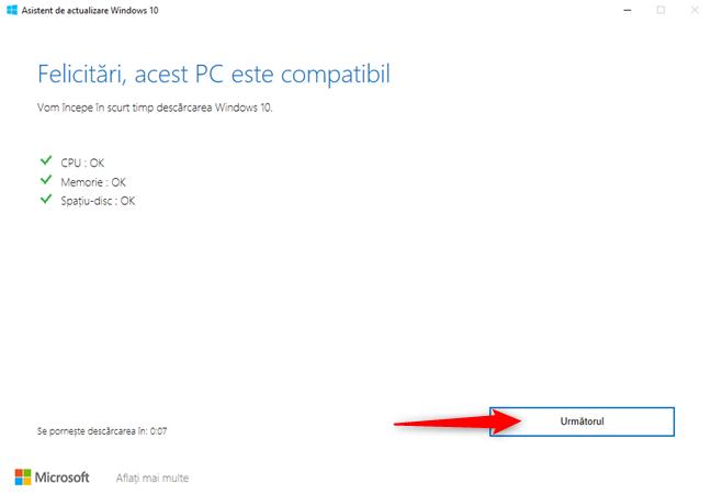 Verificarea compatibilității PC-ului tău rulând Windows 10 cu October 2020 Update