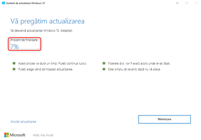 Windows 10 Update Assistant descarcă October 2020 Update