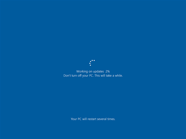Finalizarea actualizării Windows 10 October 2020 Update
