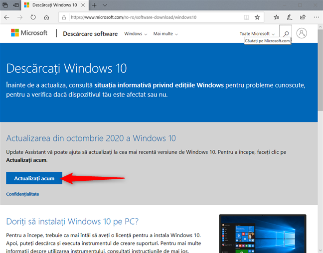 Descarcă Windows 10 October 2020 Update acum