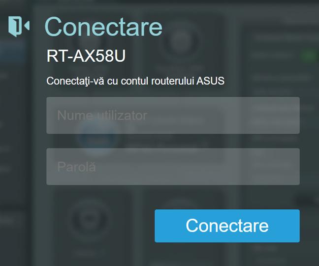 Conectează-te la routerul ASUS