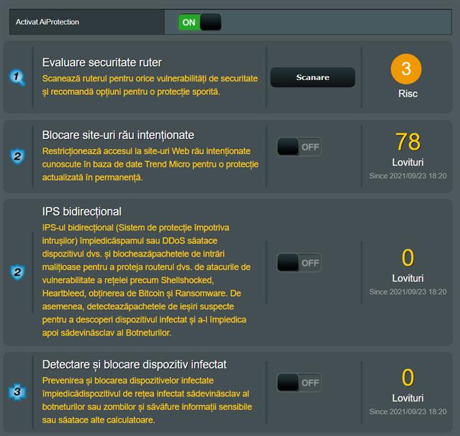 Uneltele de securitate incluse în ASUS AiProtection