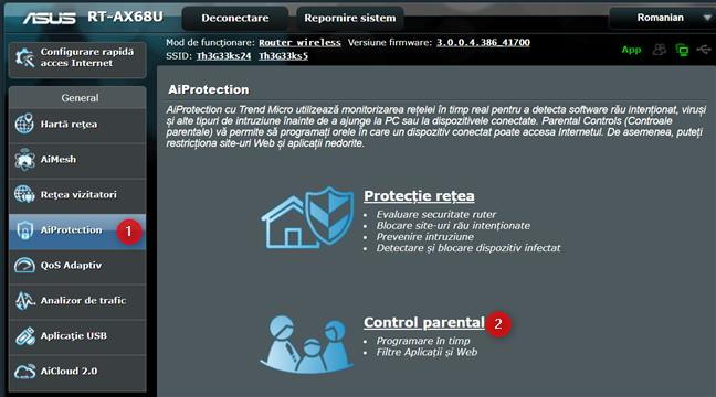 Accesează Control Parental pe routerul ASUS