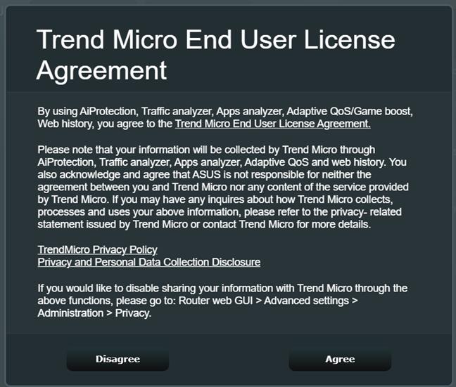 Acceptă termenii de licențiere pentru AiProtection