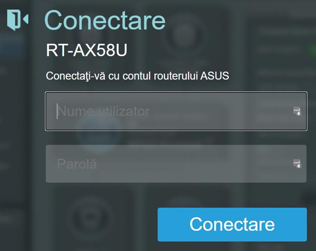Conectează-te la routerul tău ASUS ori la sistemul mesh Wi-Fi