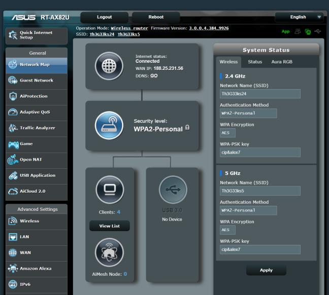 Firmware-ul de pe ASUS RT-AX82U