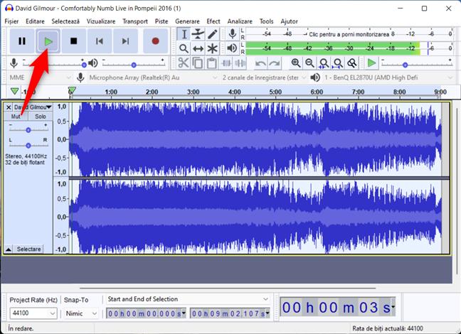 Cum redai un cântec invers în Audacity