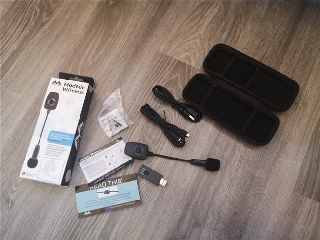 Antlion Audio ModMic Wireless: Ce găsești în cutie