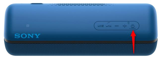 Butonul de asociere Bluetooth de pe o boxă Sony