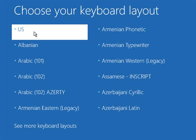 Alegerea unui tip de tastatură