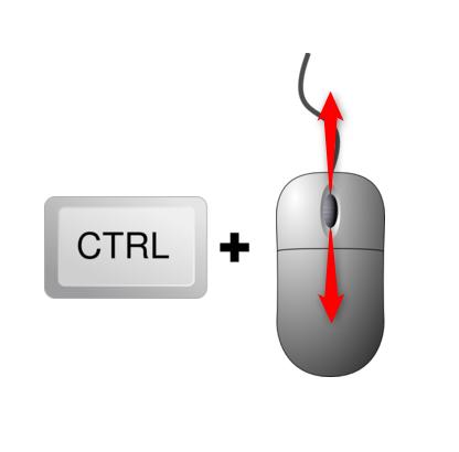 Folosește CTRL împreună cu rotița de la mouse pentru redimensionare în Chrome