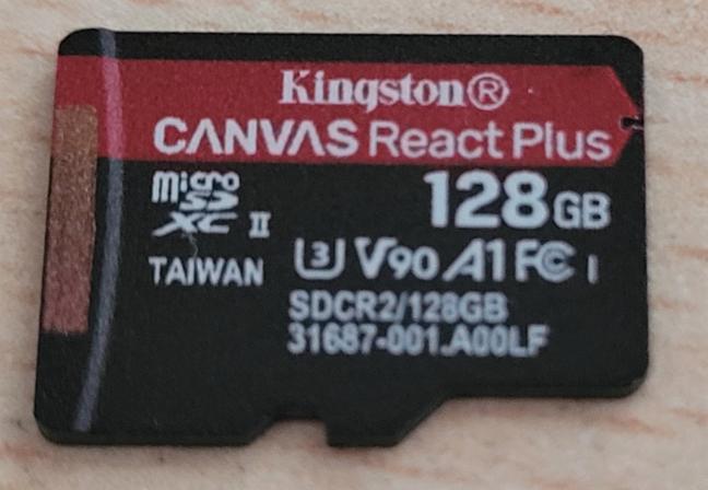 Cardul microSD Kingston Canvas React Plus