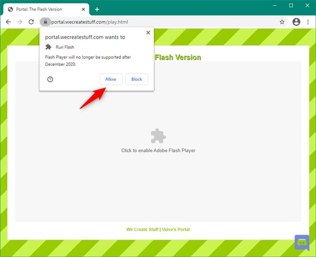 Adobe Flash Player: Plugin blocat