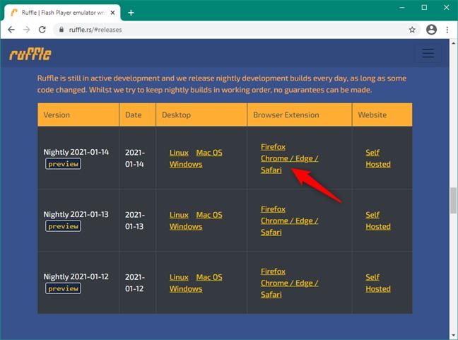 Extensia Chrome Ruffle pentru Flash