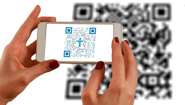 Scanare cod QR cu un smartphone