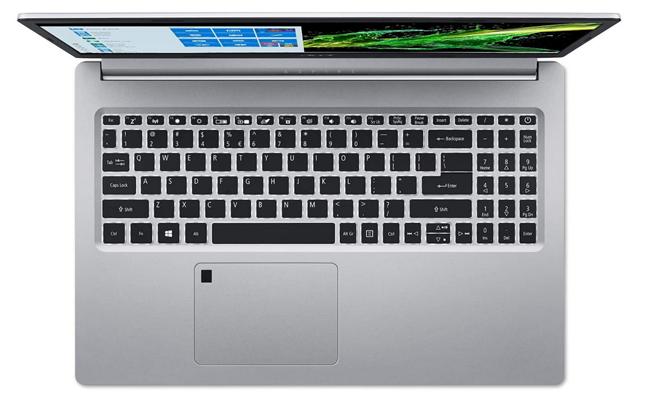 Un laptop cu cititor de amprentă