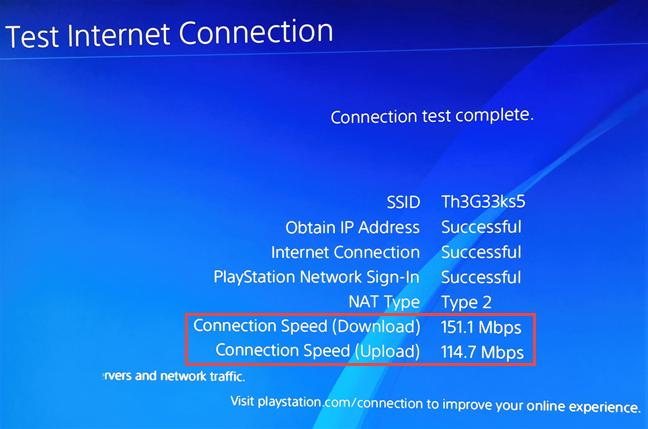 Viteza prin Wi-Fi pe care o ai pe un PlayStation 4