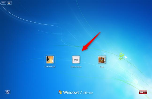 Windows 7 listează utilizatorii pe ecranul de autentificare
