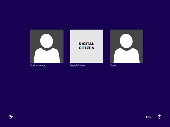Windows 8.1 listează utilizatorii pe ecranul de autentificare