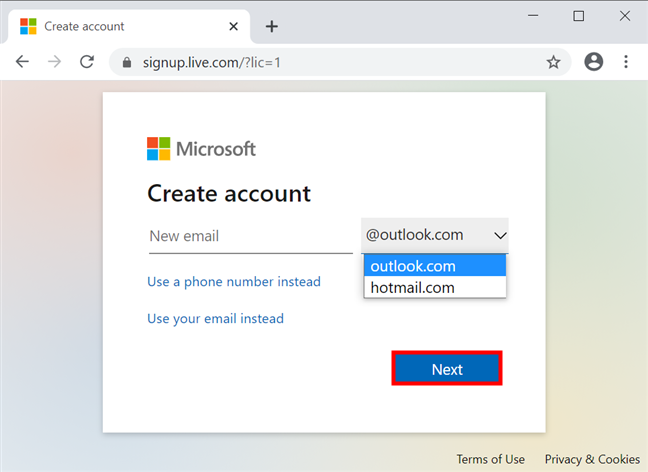 Alege o adresă de e-mail