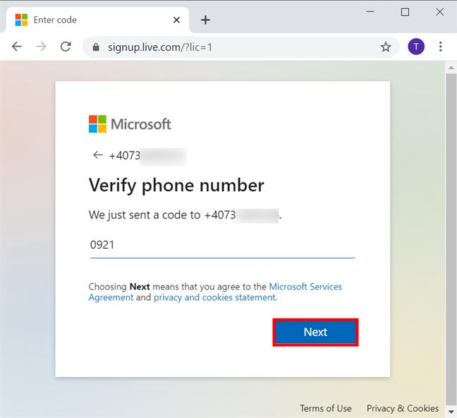 Verifică-ți numărul de telefon introducând codul primit pe el