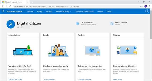 Ești conectat pe noul tău cont Microsoft
