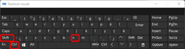 Crearea unui folder nou în Windows cu o combinație de taste