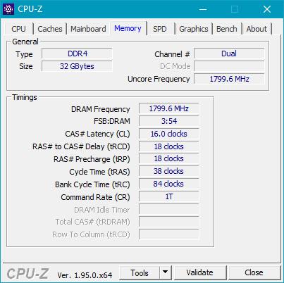 Detalii afișate de CPU-Z