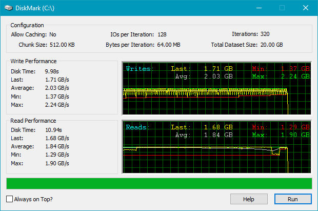SSD Crucial P5 : Rezultate benchmark DiskMark
