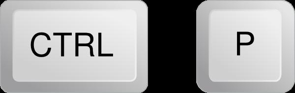 Cum imprimi în Windows: CTRL + P