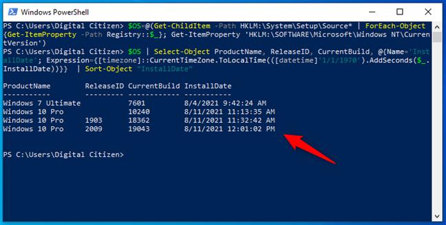 Află care este data originală de instalare a Windows și actualizările ce au urmat, folosind comenzi avansate în PowerShell