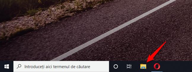 Folosește scurtătura File Explorer de pe bara de activități
