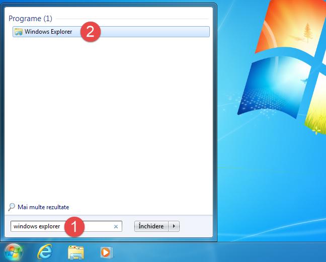 Cum deschizi Windows Explorer în Windows 7 folosind căutarea
