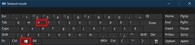 Deschide (Windows) File Explorer apăsând Win + E pe tastatură
