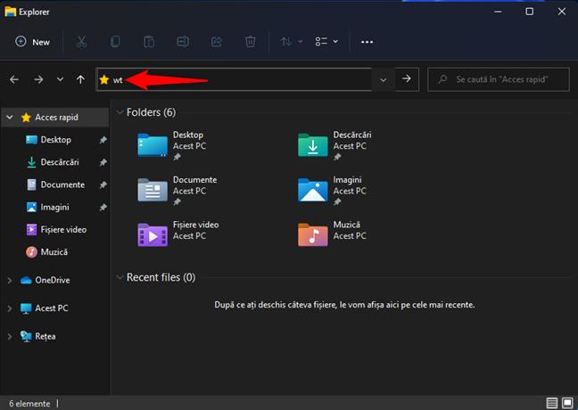 Pornește Windows Terminal din File Explorer