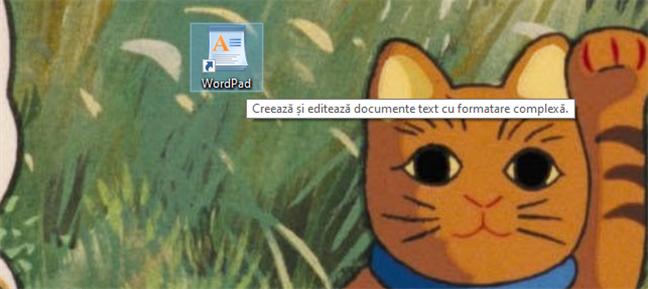Scurtătură WordPad pe desktopul Windows 10