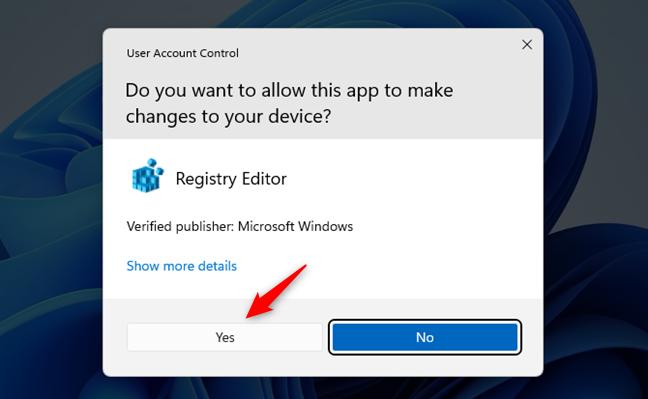Permite Registry Editor să facă modificări